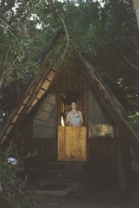 Marion and the hut